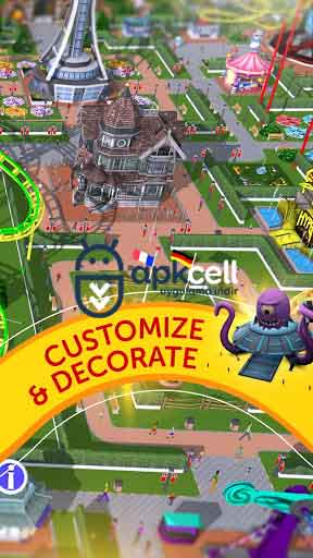 RollerCoaster Tycoon Touch v3.2.0 MOD APK – PARA HİLELİ