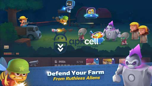 Farm Guns New Alien Clash v1.01 MOD APK – PARA HİLELİ