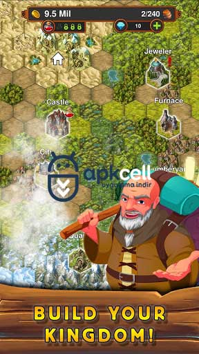 Idle Crafting Kingdom v1.19.209 MOD APK – PARA HİLELİ