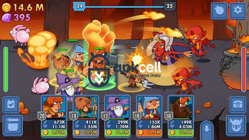Semi Heroes Idle Battle RPG v1.0.3 MOD APK – PARA HİLELİ