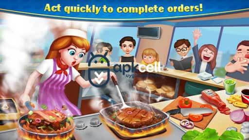 Crazy Cooking Star Chef v1.9.1 MOD APK – PARA HİLELİ