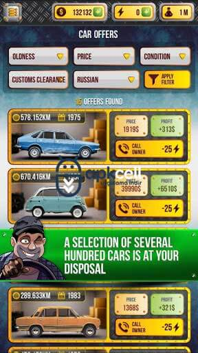 Car Dealer Simulator v3.9 Android Mega Hileli MOD APK İndir