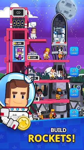Rocket Star Idle Space Factory Tycoon v1.23.1 MOD APK – PARA HİLELİ