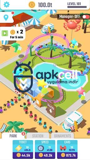 Idle Roller Coaster v1.3.1 Android – FULL APK İndir